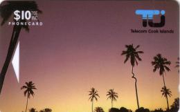 COOK ISLANDS 1ERE CARTE COCONUT PALM 10$ NEUVE MINT RARE N° 01CIC....
