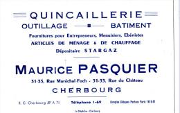 CHERBOURG/50/Quincaillerie Maurice Pasquier / Réf:C1558 - Factures & Documents Commerciaux