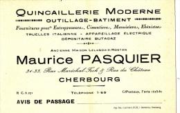 CHERBOURG/50/Quincaillerie  Maurice Pasquier / Réf:C1559 - Factures & Documents Commerciaux