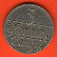*** DANZIG 5 Pfennige 1923  *** KM 142 -   Cu-Ni  - ALEMANIA / DEUTSCHLAND / GERMANY - Otros
