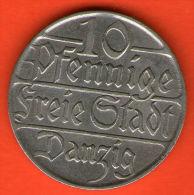 *** DANZIG 10 Pfennige 1923  *** KM 143 -   Cu-Ni  - ALEMANIA / DEUTSCHLAND / GERMANY - Otros