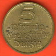 *** DANZIG 5 Pfennig 1932  *** KM 151 Alu-Bronce / Alu-Bronze  - ALEMANIA / DEUTSCHLAND / GERMANY - Otros