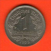 *** 1 Reichsmark 1935 A ***  KM 78 - 3er Reich / Third Reich - Niquel / Nickel  - ALEMANIA / DEUTSCHLAND / GERMANY - [ 4] 1933-1945 : Tercer Reich