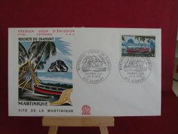 FDC, Rocher Du Diamant ( Martinique ) - 972 Diamant - 20.6.1970 - 1er Jour - - FDC