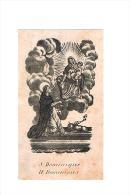 S. DOMINIQUE / H. DOMINICUS - Oud Heiligenprentje / Ancienne Image Pieuse / Old Holy Card - 5,7 X 10 Cm. - Images Religieuses