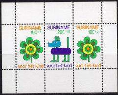 2346. Suriname, 1973, For The Child, Block, MH (*) - Surinam ... - 1975