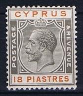 Cyprus: 1924 Mi Nr 98 MH/* - Cyprus (...-1960)
