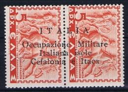 Italia/Occupazione Militare Isole Cefalonia E Itaca, 1941 Sa 18  1 X  MH/* + 1 X MNH/** - 9. Besetzung 2. WK (Italien)