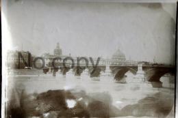 Photo Originale De Lyon En 1901 - Le Pont De La Guillotière & Panorama - Places