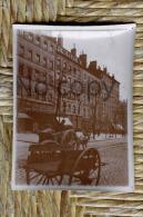 Photo Originale Circa  1910 -  Lyon - Rue Pavée Avec Attelage - Lieux