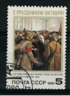 *A5* - Russia & URSS 1990 -  75° Anniv. Della Rivoluzione D´Ottobre. Quadro Di S.V. Gerasimov -  1 Val. Oblit. - Be - 1923-1991 USSR