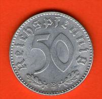 *** 50 Reichspfennig 1944 B ***  KM 96 - 3er Reich / Third Reich - Alu  - ALEMANIA / DEUTSCHLAND / GERMANY - 50 Reichspfennig