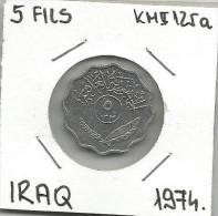 A11 Iraq 5 Fils 1974. KM#125a - Iraq