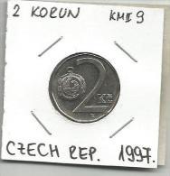 A11 Czech Republic 2 Korun 1997. KM#9 - Repubblica Ceca
