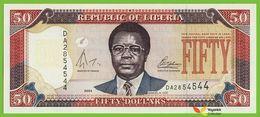 Voyo LIBERIA 50 Dollars 2004 P29b B309b Prefix DA UNC Samuel K. Doe - Liberia