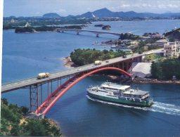 (661) Japan - Amakusa Bridges And Ship - Boat - Ponti