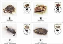 WWF 1992 Venezuela River Turtles FDC Set Fauna - W.W.F.