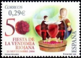 España 2006 Edifil 4265 Sello ** Fiesta De La Vendimia Riojana Alegoria Y Ofrenda A La Virgen Spain Stamps Timbre Espagn - 2001-10 Neufs