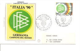 Coupe Du Monde En Italie -1990 ( FDC D'Italie à Voir) - Copa Mundial