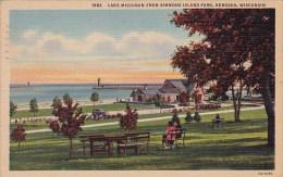 Wisconsin Kenosha Lake Michigan From Simmons Island Park 1947