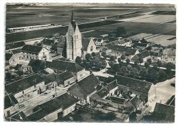 Cpsm: 28 THIVILLE (ar. Châteaudun) Le Centre (Vue Aérienne) 1955 N° 2 - Autres Communes