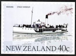 "NEW ZEALAND    40 Cents UNUSED POSTAL CARD ""Ship WAIKANA---Otago Harbour"" - New Zealand"