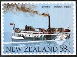 "NEW ZEALAND    58 Cents UNUSED POSTAL CARD ""Ship BRITANNIA---Waitemata Harbour"" - New Zealand"