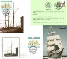Belgium 1995 COB 2608 Mi. 2660 FDC And MC CM Maximum Card + 2 Doc., Belgian Sailboat Mercator 1932 - Ships