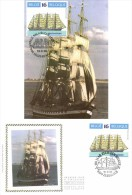 Belgium 1995 COB 2609 Mi. 2661 FDC And MC CM Maximum Card, Russian Sailboat Kruzenstern 1926 - Ships
