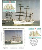 Belgium 1995 COB 2610 Mi. 2662 FDC And MC CM Maximum Card, Portuguese Sailboat Sagres 1937 - Ships