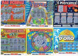 ITALIA - GRATTA E VINCI (LOTTERY) -  LOT OF 6 DIFFERENT TICKETS OF EURO 2,00 (SEE DESCRIPTION) - Biglietti Della Lotteria