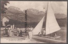 74-- Lac D´ANNECY--MENTHON--Le Port Et La Tournette---animé - Annecy