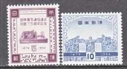 JAPAN  604-5  *  SCIENCE  ITU - Unused Stamps