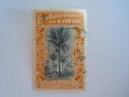 Belgisch Congo Belge 1894 Type Mols Palmier Palmboom Yv COB 20 O - Congo Belge