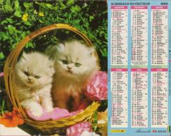 Calendrier De La Poste (chats, Chien) - Calendriers