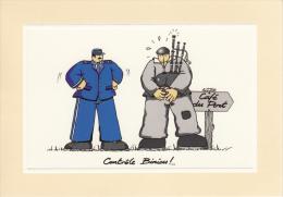 Thematiques Mam Goudig Illustrateur Jean Paul David  Police Gendarmerie  Marin Café Du Port  Controle Biniou - Police - Gendarmerie