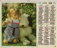 Calendrier De La Poste (enfants,chiens, Cheval) - Big : 1981-90