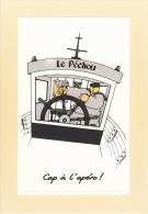 Thematiques Mam Goudig Illustrateur Jean Paul David  Bateau Peche Le Pechou Gouvernail Cap A L'apero - Pêche