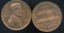 UNITED STATES - USA - ONE CENT 1972 S - LINCOLN - Émissions Fédérales
