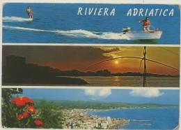 RIVIERA ADRIATICA -VEDUTE -SCI NAUTICO -VIAGG.1970 - Rimini
