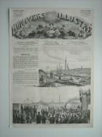 GRAVURE 1862. INAUGURATION DU CHEMIN DE FER DE NANTES A LORIENT, LE 21 SEPTEMBRE 1862. - Prints & Engravings