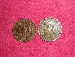 Trois Monnaies/Five Mils/ Chypre/1955 Et 1956 Et 25 Ctme 1955 En SUP.( 4 Photos). - Colombia
