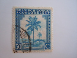Belgisch Congo Belge 1942 Palmier Palmboom Yv 233 O - 1923-44: Oblitérés
