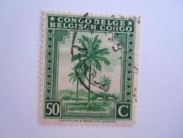 Belgisch Congo Belge 1942 Palmboom Palmier Yv 254 O - 1923-44: Oblitérés