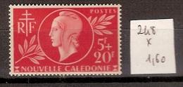 Nouvelle Calédonie 248 * Côte 1.60 € - Nouvelle-Calédonie
