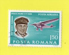 ,,.ANTHONY FOKKER ,,, POLUL. NORD 9 V 1926.. ,, VALEUR  FACIALE  **  150 L  ** ,, 1978 ,,, PA ,,,  POSTA ROMANA ,,,TBE - Airplanes