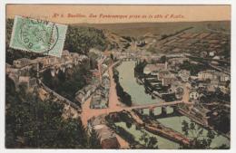 @ CPA COLORISEE BOUILLON, PANORAMA, VUE PANORAMIQUE PRISE DE LA COTE D´AUCLIN, N°6, PROVINCE DU LUXEMBOURG, BELGIQUE - Bouillon