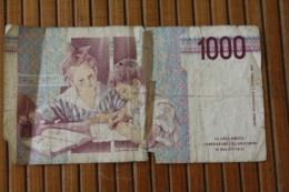 ITALIE 1000 Lires 3/10/1990  =>>  ITALIA Royaume > Biglietto Di Stato > Italia – 10 Lire État :2/5 - [ 2] 1946-… : Républic