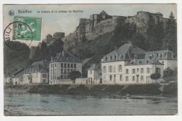 @ CPA COLORISEE BOUILLON, LA SEMOIS ET LE CHATEAU DE BOUILLON, PROVINCE DU LUXEMBOURG, BELGIQUE - Bouillon