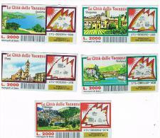 ITALIA - GRATTA E VINCI (LOTTERY) -  LE CITTA' DELLE VACANZE: LOT OF 5 DIFFERENT TICKETS  CODE 171 (SEE DESCRIPTION) - Biglietti Della Lotteria